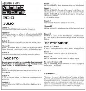 Programa actividades 2010